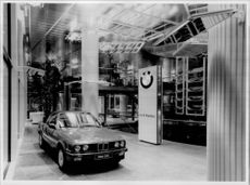 The lavish exhibition hall at the BMW factory in Munich.