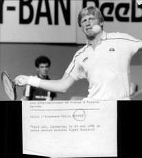 Boris Becker during a tournament in France.