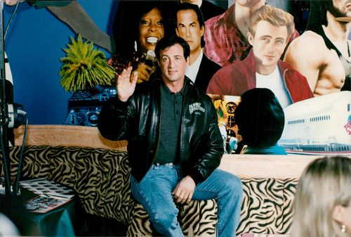 Sylvester Stallone at PLanet Hollywood at Gatwick Airport