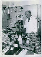 A man at the laboratory.