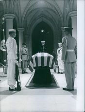 A scene of John Foster Dulles' funeral.