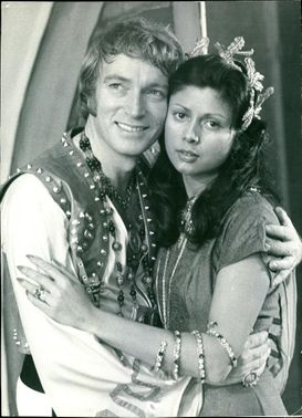 A portrait of Frank Ifield and a woman.