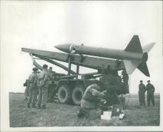 Honest John Missile fired on salisbury plain.