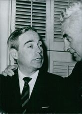 Governor Scranton seen here with James Van Zandt of Altoona is one of the two principal candidates for nomination as official republican candidate for the 1964 Presidential elections.