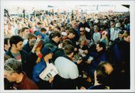Fans of all ages were flocked around Rickard Rydell when he wrote autographs at Donnington Park.