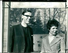 John Habgood his with wife Rosalie at Queen's College