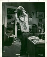Mickey Rooney under the recordings of the latest Hardy Family movie for Metro-Goldwyn-Mayer - 6 August 1939