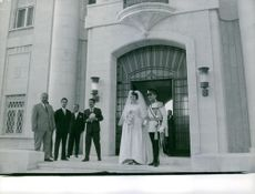 Hussein bin Talal, King of Jordan wedding with Princess Antoinette Avril Gardiner.