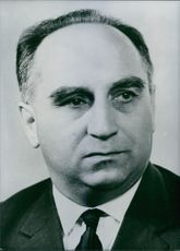Portrait of polish politician Stefan Jedrychowski, 1968.