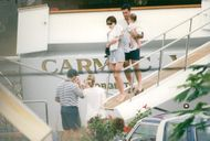 Sylvester Stallone on vacation with Jennifer Flavin