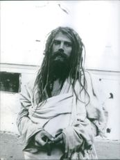Close up picture of an Nepali person. 1970