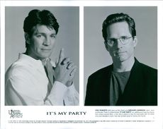 """Eric Roberts and Gregory Harrison from the  1996 American drama film, """"It's My Party""""."""