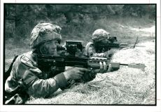 A soldier of the 1st battalion argyll.