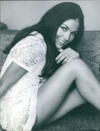 Dennie Haward striking a pose, one of the ravishing beauties from the film