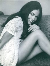 """Dennie Haward striking a pose, one of the ravishing beauties from the film """"Where It's At """"."""