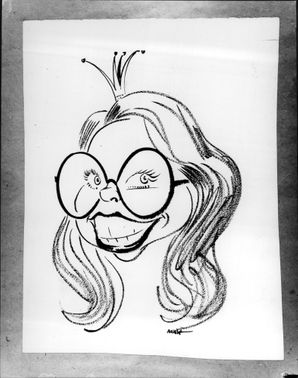 Caricature drawing on Princess Christina of an unknown artist.