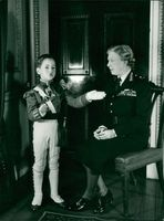Princess Royal with her grandson