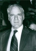 Close up of US economist and public servant James R. Schlesinger who was best known for serving as  Secretary of Defense from 1973 to 1975 under Presidents Richard Nixon and Gerald Ford