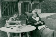 Yves Montand and Simone Signoret