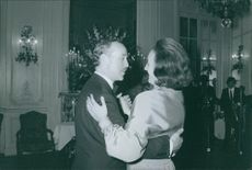 Prince lobkowicz dancing with Alix, Princess Napoleon.