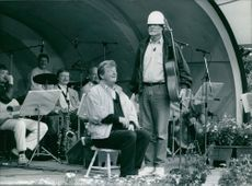 Kent Andersson (left) and Carl-Anton Axelsson on stage.