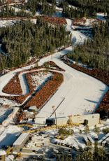 Aerial view of the target area during the Olympic Games in Lillehammer.