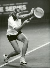 Lena Sandin plays in the semi-finals of the Stockholm Open