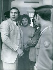 One of the two caught gangsters, 26 years old Fulvio Bergolini, after the man-hunt.