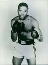 Gil Turner in a boxing stance.