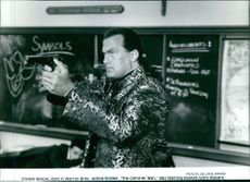 A scene of Steven Seagal from the film The Glimmer Man. 1996