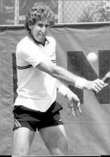 Brian Gottfried in action during French Open 1983
