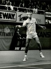 Mats Wilander during Stockholm Open 1984
