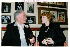 Patricia Hodge with Joe Mitchenson.