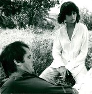 """Actors Jack Nicholson and Maria Schneider in the movie """"Occupation: Reporter"""""""
