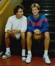 The tennis players Mats Wilander and Stefan Edberg