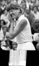 Margaret Court after having vowed during the match