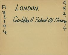 London guildhall school of musical.