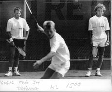 Training for the quarterfinals of the Davis Cup
