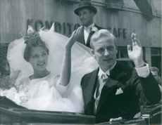 Wedding of Princess Birgitta and Johan Georg von Hohenzollern, June 1, 1961.
