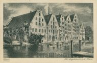 Postcards: An der Traue, the old warehouses