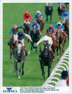 Willy Ryan on Benny the dip wins before Pat Eddery at Silver Patriach at Derby