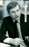 A photo showing Timothy Aitken, Chief Executive of TV-AM..