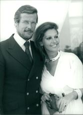 Roger Moore with his wife Luisa (Mattioli).