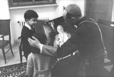 Pope Paul VI with children.