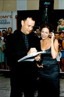 """Tom Hanks along with his wife Rita Wilson at the premiere of """"Saving Private Ryan"""""""