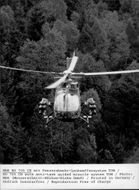 A MBB BO 105 helicopter