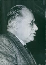Close up of an Italian politician  Palmiro Togliatti. General Secretary of the Italian Communist Party.