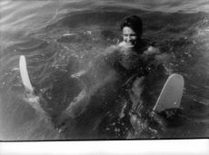 Jacques Charrier enjoying in water.