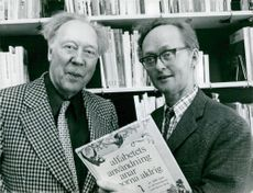 Swedish author Alf Henriksson together with Björn Berg.