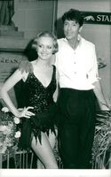 The actress and the model Twiggy with Tommy Tune